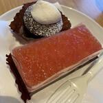 スターバックスコーヒー - ピンクグレープフルーツ&ヨーグルトケーキ チョコinチョコレート
