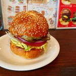 THE BURGER HEARTS - Rバーガー(レギュラー)  600円