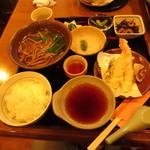 山の駅レストラン - 丹波霧芋そば定食(温) 1380円