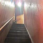 ブッカート カフェ - この階段がドキドキです☆