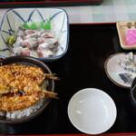 金沢食堂 - イワシ刺セット A (1050 円)