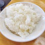 新福菜館  - ライス