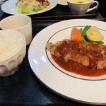 おきらく食堂 - 三元豚のロースステーキ