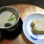 うなぎ割烹 きょう豊 - 小鉢~茶碗蒸し、出汁巻き玉子