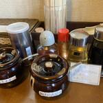 麺や 司 - 料理写真:卓上調味料
