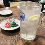 鳥万 - レモンサワー(290円)
