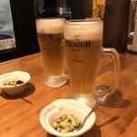 麺酒一照庵 - ビールとおつまみ おつまみはサービスです♫