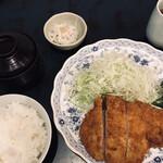 133791311 - ロースかつ(1,800円)と定食セット(500円)