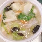 大阪王将 - 麺を細いかた焼きそばに変更した海鮮餡かけ焼きそば