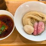 らぁ麺 はんにゃ - 昆布水の淡麗醤油つけ麺+味玉トッピング 1,000円