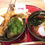 酒と肉天ぷら 勝天 - 勝天名物天丼 1480円