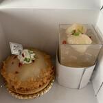 欧風菓子ソムリエ - 白桃タルトと白桃ゼリー