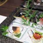 最高級A5神戸牛専門店 新宿 牛龍 - 前菜4種盛り