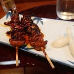 天松 - 鰻の肝焼(二本)