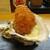 kitchen俊貴 - 料理写真:アミューズの 岩牡蠣フライ:的矢湾のミルキーで大きな岩牡蠣が揚げたて熱々で提供されます。       020.07.23