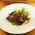 kitchen俊貴 - 料理写真:恵那鶏のステーキ(家内):照り焼き風の 恵那鶏ステーキは、皮がパリッと香ばしく焼かれ、恵那鶏の美味しさが際立ちます。      020.07.23