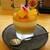 kitchen俊貴 - 料理写真:デザート・杏仁豆腐マンゴーパフェ:マンゴーのムースに杏仁豆腐が良く合っています。 タップリな宮崎県産マンゴーと 発酵バターが香るサブレがトッピングされ、甘ぁ~い マンゴーピューレがトロォ~リとかけられています。 エディブルフラワーとイタリアンパセリが飾られていますョ!      020.07.23