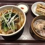 唐朝刀削麺 - パイコー刀削麺と点心セット