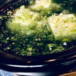 だし家焼肉ゑびす本廛 - 口直し生海苔豆腐