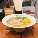 Raxamenishibashi - 全部のせ塩らぁ麺W(1,290円)