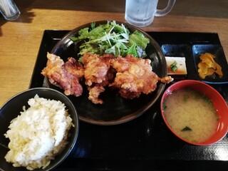 なるとキッチン 荻窪店 - ザンギ定食¥825 生姜飯にチェンジ