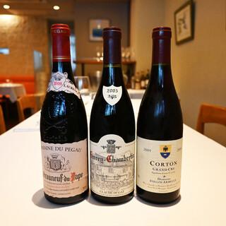 シェフが厳選したフランスワイン