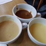ガーデンレストラン オールデイ ダイニング - 冷製コーンスープはイマイチ。定番のグリーンカレーとオリジナルカレーは今日もとっても美味しかった❗