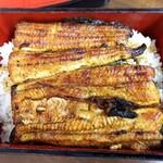133855193 - 坂東太郎のうな重(1尾、肉厚、きも吸付き)