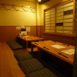 20名様で貸し切り個室。宴会は飲み放題込み4000円より。
