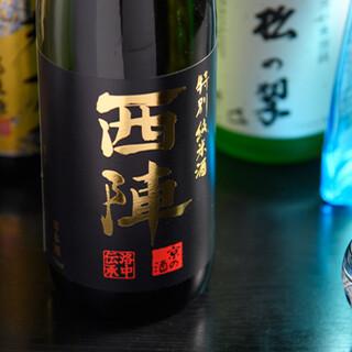 京都の地酒や、丹波ワインをご用意。お料理とご一緒にどうぞ。