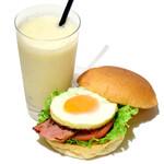 the 3rd Burger - お好きなサンド&バナナスムージーセット