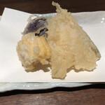 soba みのり - 【夜とくセット】天ぷら 鱚 南瓜 丸茄子 とうもろこし