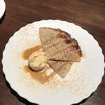 soba みのり - 蕎麦粉のガレット きな粉とメープルシロップ