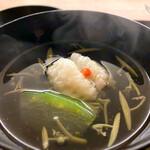 料理旅宿 井筒安 - 鱧と冬瓜とジュンサイの椀物