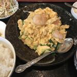 中華料理 満福苑 - エビ玉定食