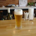 鉄板焼いち一 - ビール!(^^)!