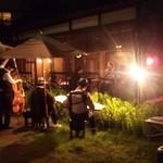 田舎 - お庭でジャズライブやりました!