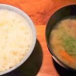 名代とんかつ かつくら - 金華豚ロース120gの麦ご飯と味噌汁
