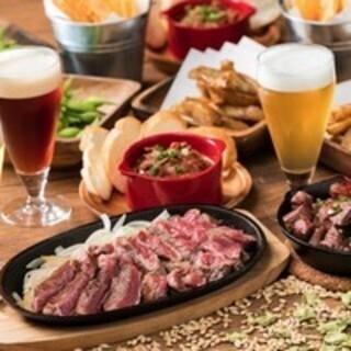 クラフトビールとベストマッチな肉料理を堪能!