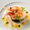 ロッシ - 料理写真:魚介類のマリネ レモンと実山椒を利かせた冷たいイカスミのリゾット