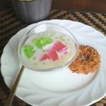 1339248 - デザートと番茶(タピオカ・クッキー)