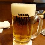 Fuchuupasutakan - モルツ生ビール(ジョッキ):682円
