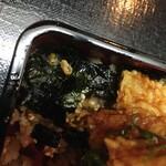 もも瀬 - 穴子とご飯の間に敷き詰められた刻み海苔