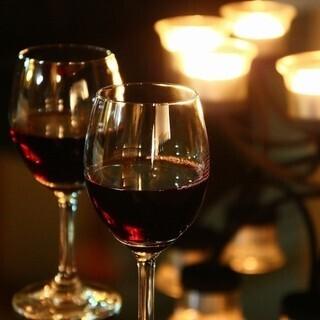 お料理に合うワインが豊富♪