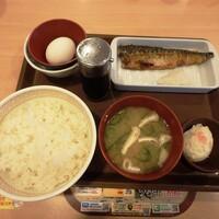 すき家-さば朝食¥390