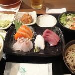 13391342 - お刺身定食(1000円、サービス券使用で900円)