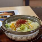 大谷田温泉 明神の湯 - 料理写真:2020.7 明神名物牛もつ塩麹鍋(900円)