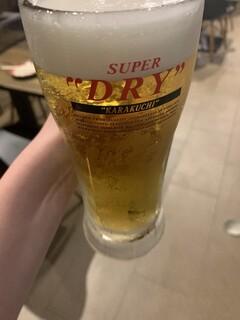 大阪焼肉HANABI - アサヒビール!飲み放題もあります。