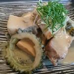 旬穀旬菜カフェ - 苦瓜と豚肉の煮物
