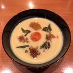 133932096 - コーンのすり流し じゅん菜 ジュレ 黄味